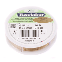 .015 7-Strand Gold Metallic Beadalon Stringing Wire
