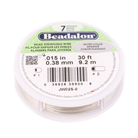 .015 7-Strand Silver Metallic Beadalon Stringing Wire