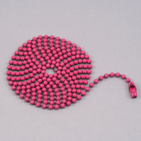 "Pink Ball Chain with connector, 30"" 2.4mm"