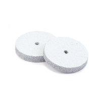 "Silicone Polishing Wheel, Square Edge - White 7/8""Coarse, 2pk"