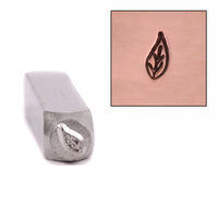 Lil Pothos Leaf Design Stamp 6mm