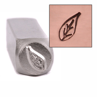 Pothos Leaf Design Stamp 9.5mm
