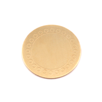 "Brass 3/4"" (19mm) Circle Dot Border Blank, 24g"