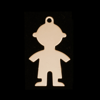 Gold Filled Boy Body Silhouette Charm, 24g