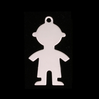 Sterling Silver Boy Body Silhouette Charm, 24g