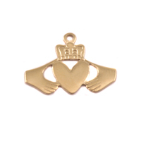 Brass Claddagh Solderable Accent, 28g