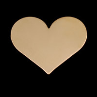 Gold Filled Large Classic Heart, 24g