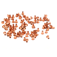 "Copper Hollow 1/16"" Rivets, 3/32"" Long"