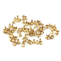 "Brass Hollow 1/16"" Eyelets, 3/32"" Long"