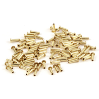 "Brass Hollow 1/16"" Eyelets, 7/32"" Long"