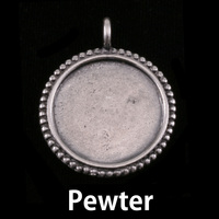 Pewter Circle with Dotted Edge, Large
