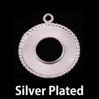 Silver Plated Washer with Dotted Edge