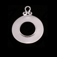 Sterling Silver Washer with Inner Edge