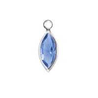Swarovski Crystal Navette Silver Charm (Sapphire - SEPTEMBER)