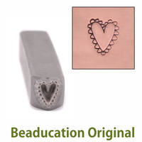 Lacey Heart Design Stamp-Beaducation Original