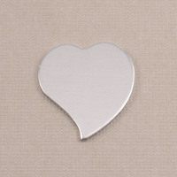 Aluminum Large Stylized Heart, 18g