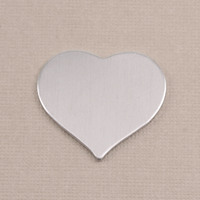 Aluminum Large Puffy Heart, 18g