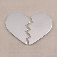 Aluminum Broken Heart , 2 parts, 18g