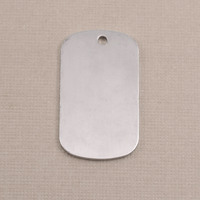 Aluminum Medium Dog Tag (no notch), 18g