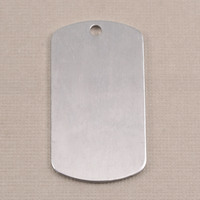 Aluminum Large Dog Tag (no notch), 18g