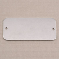 Aluminum Rectangle Component with Holes, 18g