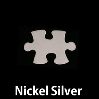 Nickel Silver Small Puzzle Piece, 24g