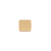 Brass Tiny Rounded Square, 24g