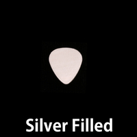 "Silver Filled Smallest ""Guitar Pick"" Blank, 24g"