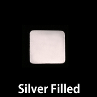 Silver Filled Medium Rounded Square, 24g