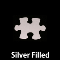 Silver Filled Small Puzzle Piece Blank, 24g