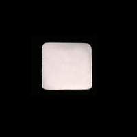 Sterling Silver Medium Rounded Square, 24g