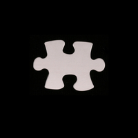Sterling Silver Small Puzzle Piece, 24g