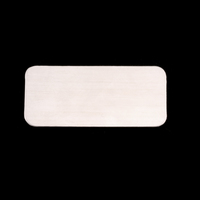 Sterling Silver Rectangle Component, 24g
