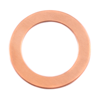 "Copper 1 1/4"" Washer, 7/8"" ID, 24g"