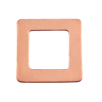 Copper Large Square Washer, 24g