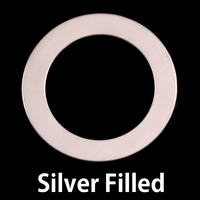 "Silver Filled 1 1/4"" Washer, 7/8"" ID, 24g"