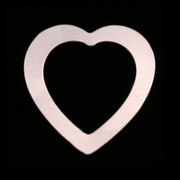 Sterling Silver Large Heart Washer, 24g