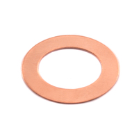 Copper Medium Oval Washer, 24g