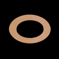 Gold Filled Medium Oval Washer, 24g