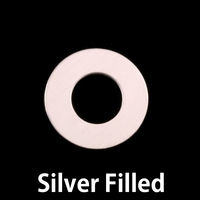 "Silver Filled 3/4"" Washer, 3/8"" ID, 24g"