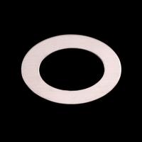 Sterling Silver Medium Oval Washer, 24g