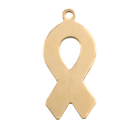 Brass Awareness Ribbon Blank, 24g