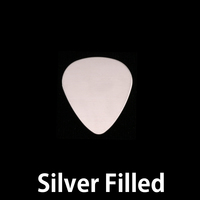 "Silver Filled Small ""Guitar Pick"" Blank, 24g"