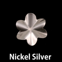 Nickel 6 Petal Folded Flower, 24g