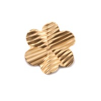 Brass 6 Petal Striped Folded Flower, 24g