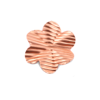 Copper 6 Petal Striped Folded Flower, 24g
