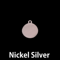 "Nickel Small Circle Tag 3/8"" (10mm), 24g"