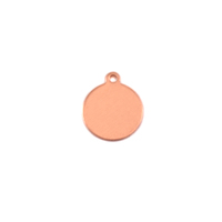 "Copper Small Circle Tag 3/8"" (10mm), 24g"