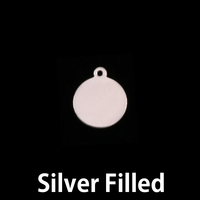 "Silver Filled Small Circle Tag 3/8"" (10mm), 24g"