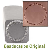 Wavy Edge w/Dots Circle Border Stamp-Beaducation Original